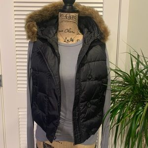 Gap puffer best with fur hood